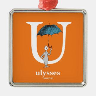 ABC do Dr. Seuss: Letra U - O branco   adiciona Ornamento De Metal