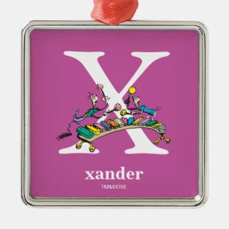 ABC do Dr. Seuss: Letra X - O branco   adiciona Ornamento De Metal