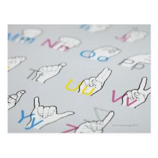 ABC do linguagem gestual Cartão Postal