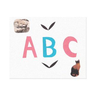 ABC em canvas
