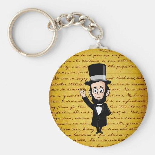 Abe honesto e seu endereço de Gettysburg Chaveiro