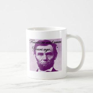 """Abe Lincoln """"Fourscore e sete anos há """" Caneca De Café"""