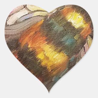 Abelha Adesivo Coração