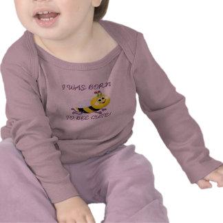 ABELHA BONITO Camisa longa infantil da luva Camisetas