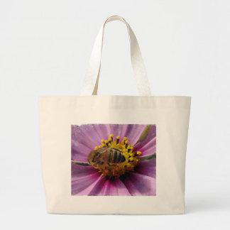 Abelha Cosmo abelha do mel e flor de Cosmo Bolsas