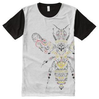 abelha de rainha camiseta com impressão frontal completa