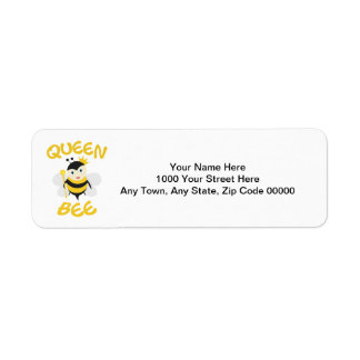 Abelha de rainha etiqueta endereço de retorno