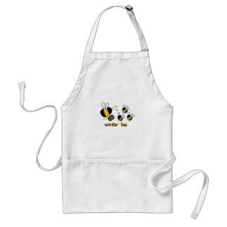 abelha de trabalhador - professor avental