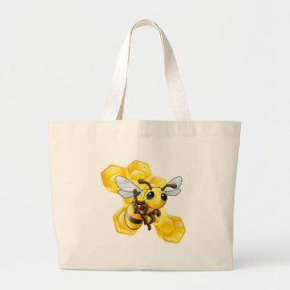 Abelha e favo de mel bolsas para compras