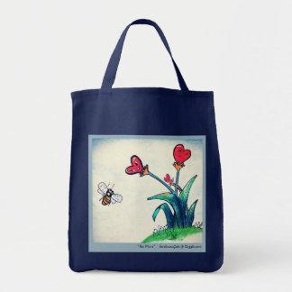 Abelha & flor, o bolsa do mantimento