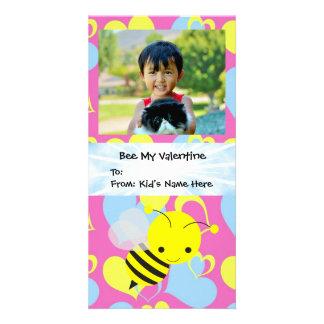 Abelha meu miúdo dos namorados cartão com foto