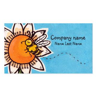 Abelha no molde do cartão de assunto pessoal da cartão de visita