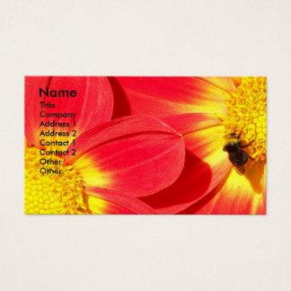 Abelha ocupada floral cartão de visitas