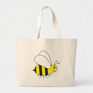Abelha pequena engraçada do mel bonito sacola tote jumbo
