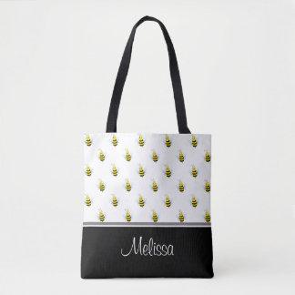 Abelhas bonitos   personalizado bolsas tote