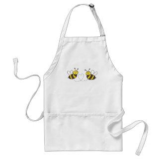 Abelhas do mel com coração avental