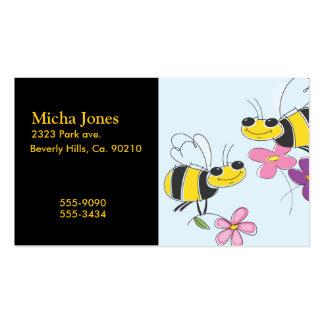Abelhas do mel & flores do primavera modelo cartões de visitas