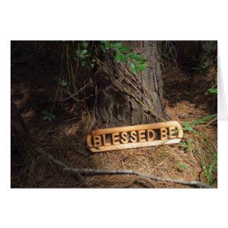 Abençoado esteja no cartão da floresta