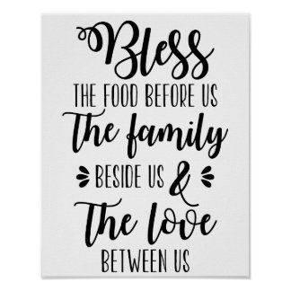Abençoe a comida antes de nós poster da família