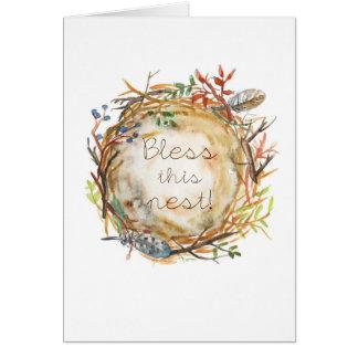 Abençoe este cartão do ninho