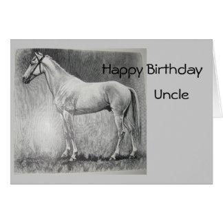 Abessinier, feliz aniversario, tio cartão comemorativo
