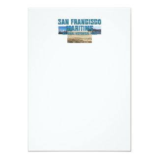 ABH San Francisco marítimo Convite 12.7 X 17.78cm