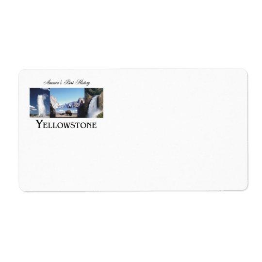 ABH Yellowstone Etiqueta De Frete