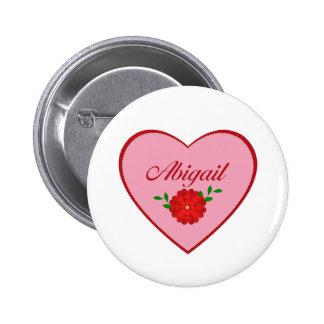 Abigail (coração) botons