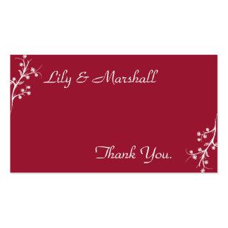 Abloom em cartões de agradecimentos do vinho cartão de visita