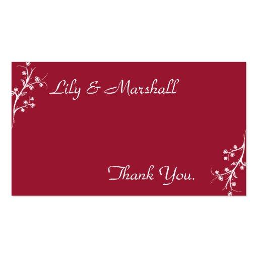 Abloom em cartões de agradecimentos do vinho cartoes de visita