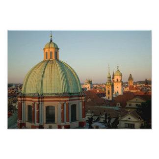 Abóbada da igreja do santo Francis, Praga, checa Impressão De Foto