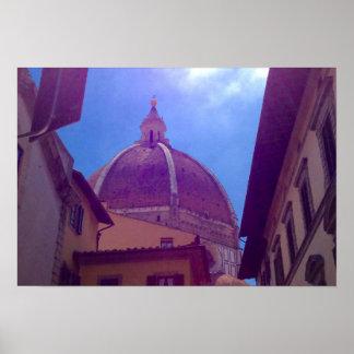 Abóbada de Brunelleschi poster de Florença, Italia