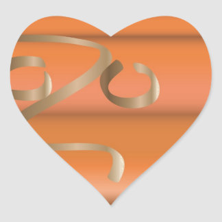 abóbora adesivo coração