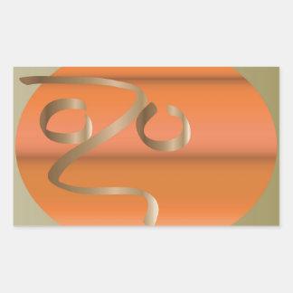 abóbora adesivo retangular
