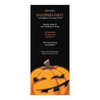 Abóbora assustador do Dia das Bruxas que cinzela Convite 10.16 X 23.49cm