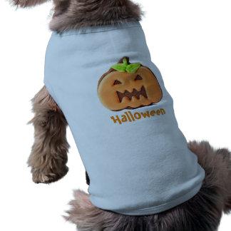 Abóbora bonito da laranja do Dia das Bruxas Camisa Sem Mangas Para Cachorro