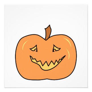 Abóbora bonito sorrindo O Dia das Bruxas Convites