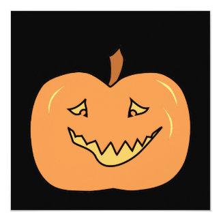 Abóbora bonito, sorrindo. O Dia das Bruxas Convite Quadrado 13.35 X 13.35cm