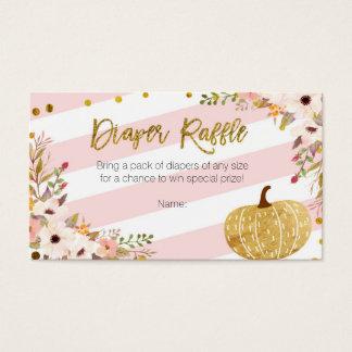 Abóbora cor-de-rosa do ouro - cartão do Raffle da