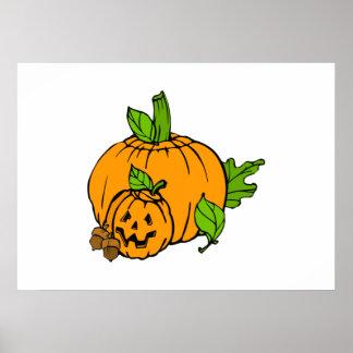 Abóbora da Jack-o-Lanterna do Dia das Bruxas Impressão