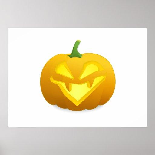 Abóbora da Jack-o-Lanterna do Dia das Bruxas Poster