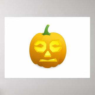 Abóbora da Jack-o-Lanterna do Dia das Bruxas Posters