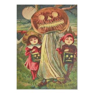 Abóbora da lanterna de Jack O do fantasma das Convite 12.7 X 17.78cm