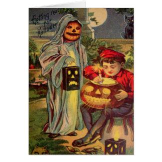 Abóbora da lanterna de Jack O do fantasma do Cartoes