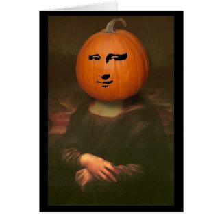 Abóbora de Mona Lisa Cartão Comemorativo