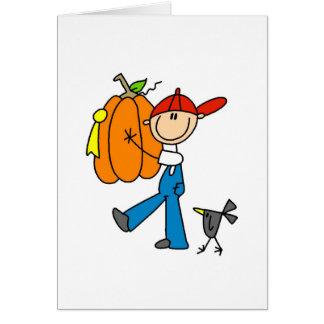 Abóbora de outono cartão comemorativo