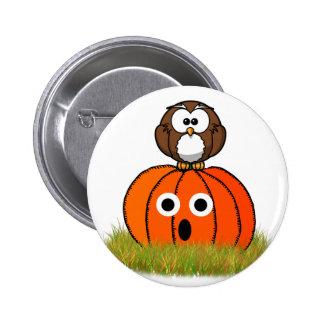 Abóbora do Dia das Bruxas coruja Spooked Pins