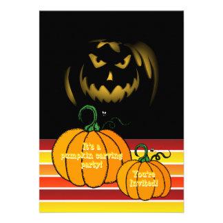 Abóbora do Dia das Bruxas que cinzela a lanterna d Convite Personalizados