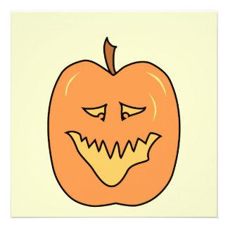 Abóbora dos desenhos animados O Dia das Bruxas Convites Personalizado
