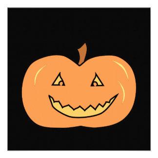 Abóbora feliz cinzelada O Dia das Bruxas Convites